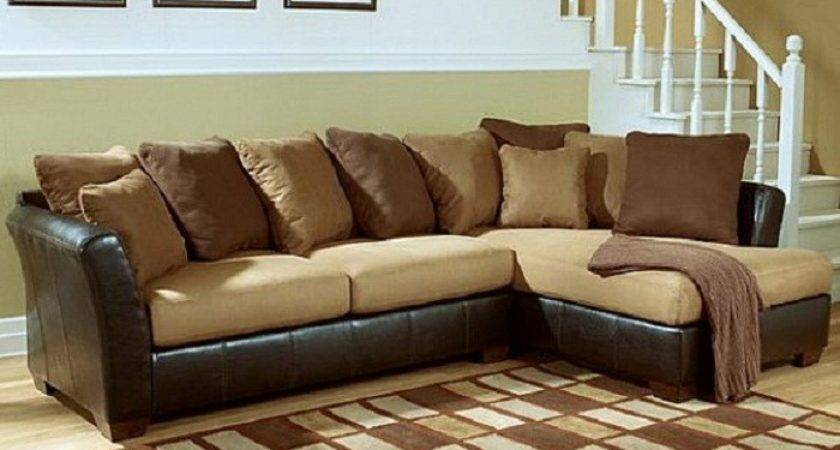 Leather Sofa Decorative Pillows Brown Colors