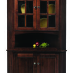 Lexington Shaker Corner Hutch Norman Handcrafted