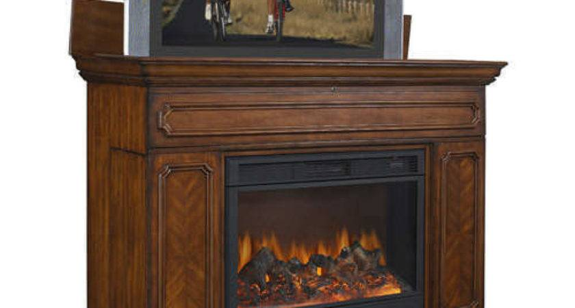Lift Cabinet Stand Built Electric Fireplace Ebay
