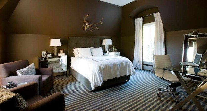 Light Brown Walls Dark Accent Wall Paint Home
