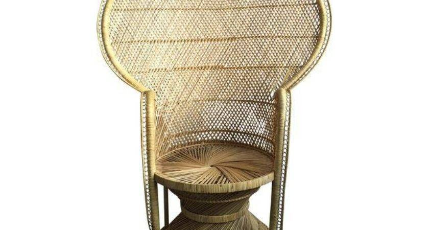 Light Colored Peacock Chair Chairish