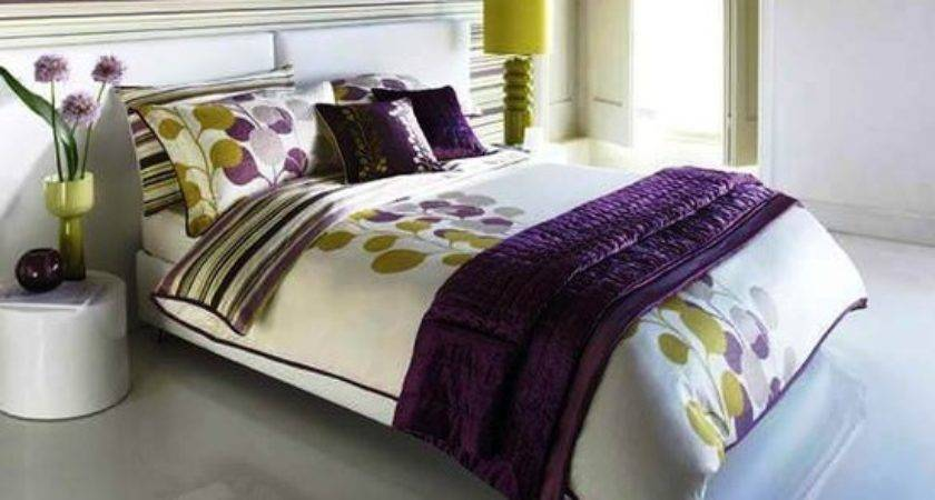 Light Green Purple Bedroom
