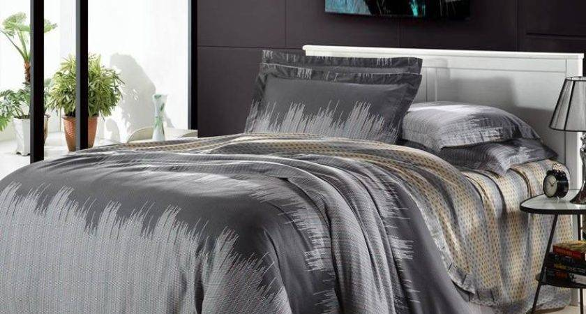 Light Grey Bedding Set Chandra Comforter