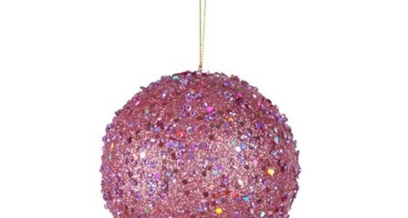 Light Pink Christmas Ornaments Glowing Holiday