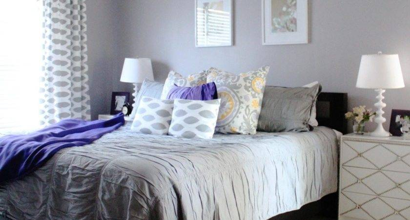 Light Purple Grey Bedroom Home Design Also Interalle