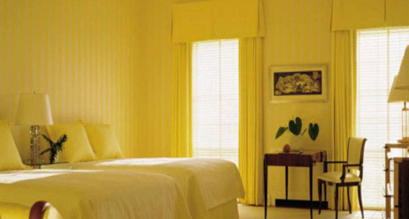 Light Yellow Paint Bedroom Decoration Home Combo