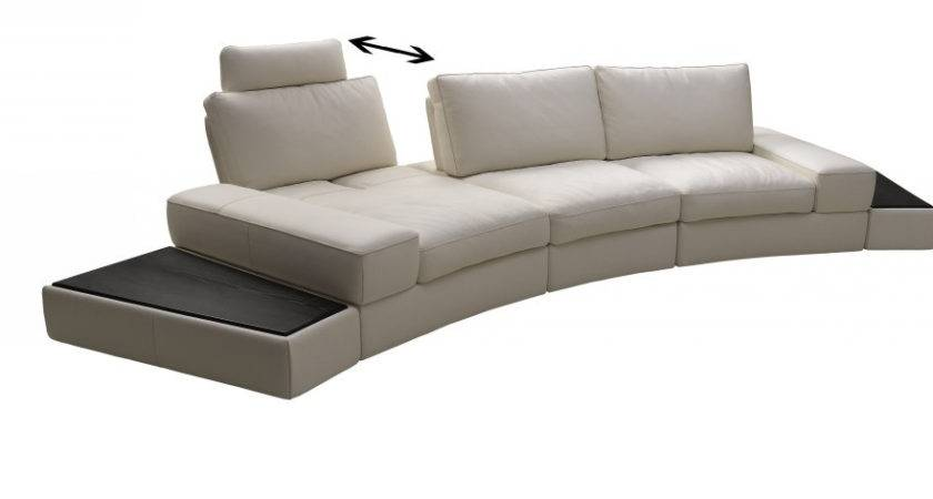 Lilac Grain Leather Sectional Sofa