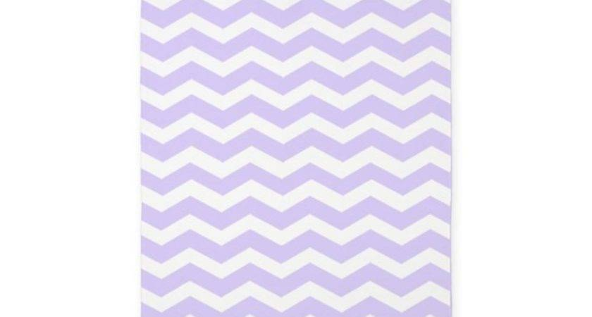 Lilac Purple White Chevron Area Rug