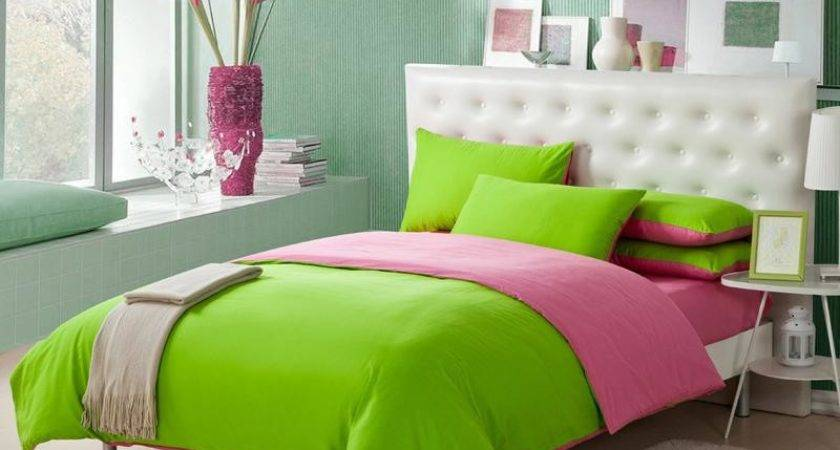 Lime Green Fresh Style Bedding Sets