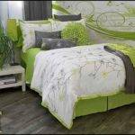 Lime Green Grey Bedding Crib Baby Aqua Orange