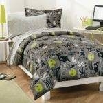 Lime Green Grey Bedding Gray Turquoise