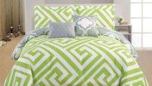 Lime Green Grey Bedding Sets