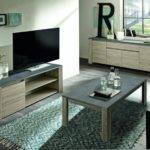 Lipari Modern Cabinet Grey Oak Finish