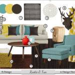 Living Brown Teal Red Room