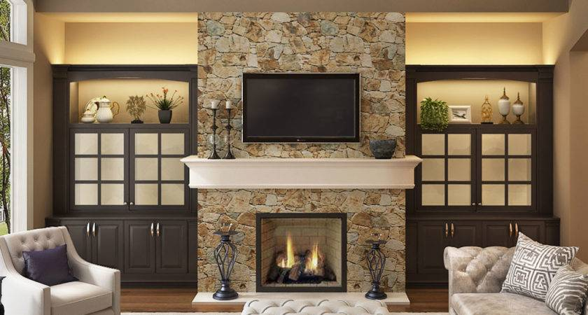 Living Design Ideas Fireplace Traditional Built