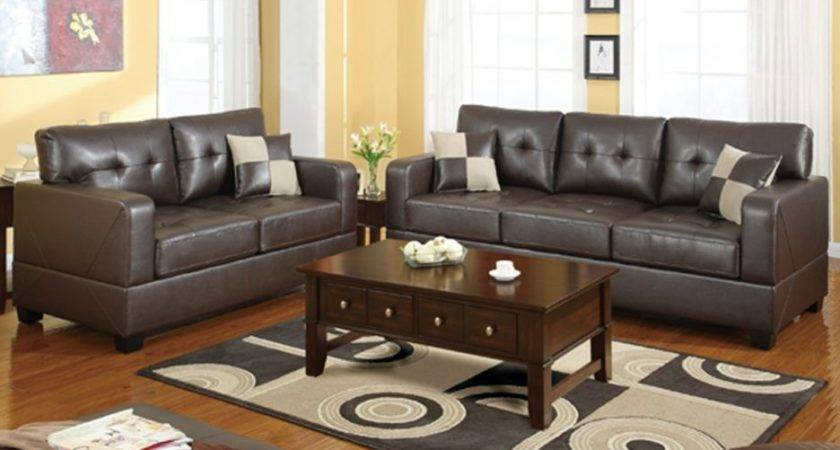Living Room Attractive Leather Furnitur