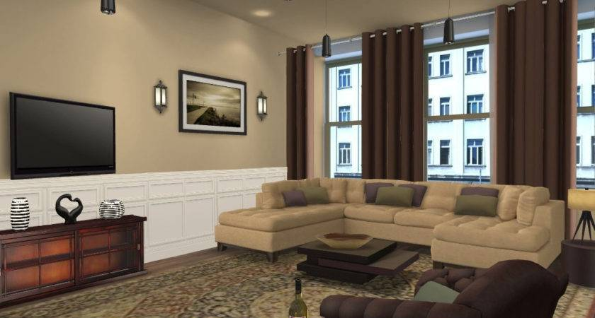 Living Room Color Combinations Brown Furniture Home