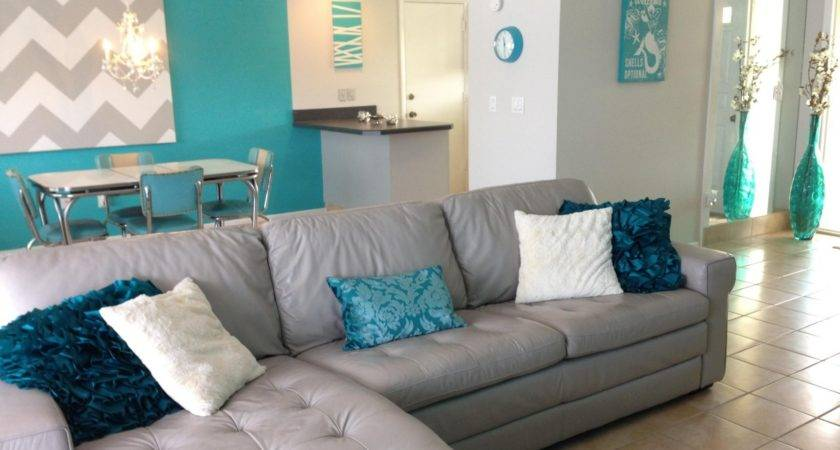 Living Room Colors Ideas Teal Brown