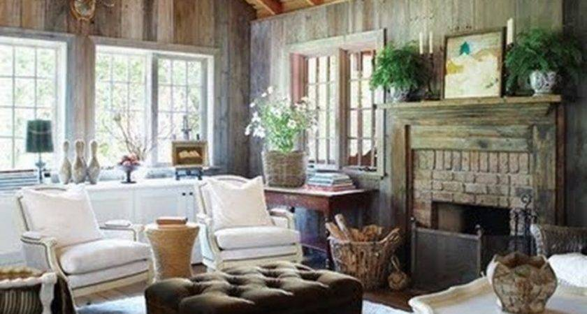 Living Room Cottage Style Ideas Rustic