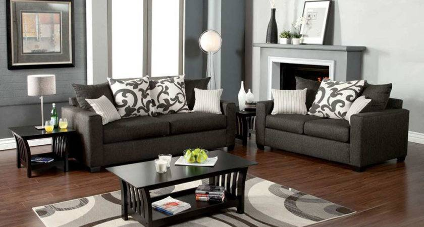 Living Room Decor Grey Couch Modern House