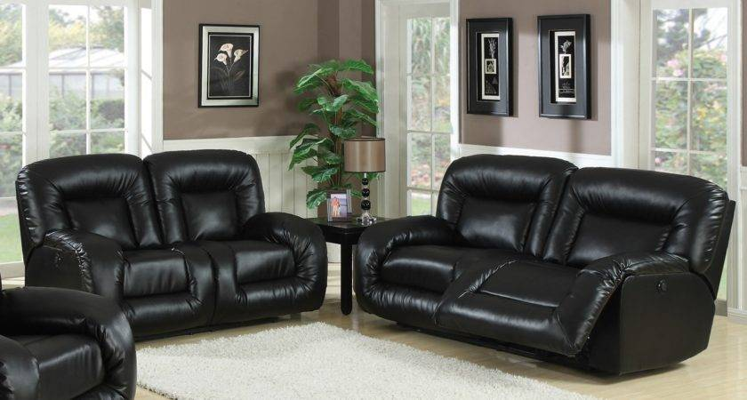Living Room Decorating Black Leather Furniture Best