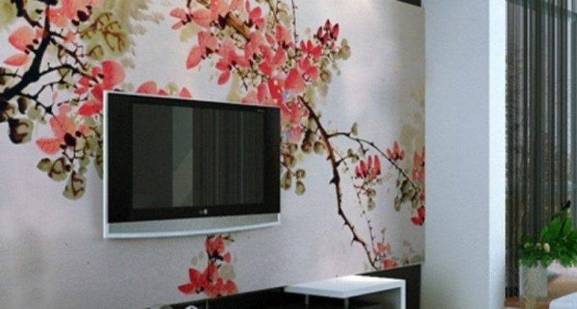 Living Room Designs Unexpected Wall Murals Decoholic