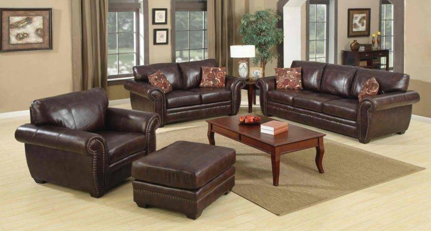 Living Room Ideas Leather Decor Brown