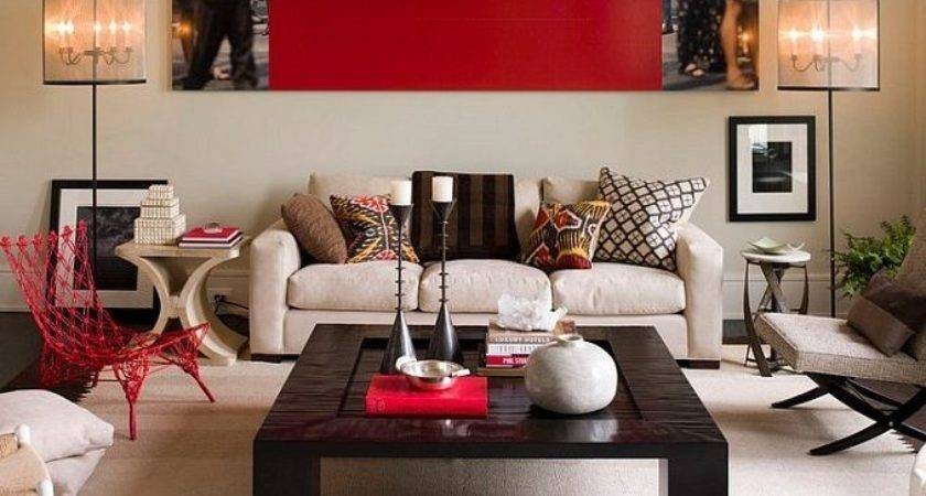 Living Room Ideas Red Accents Interior Decor