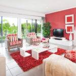 Living Room Ideas Red White Interior Design