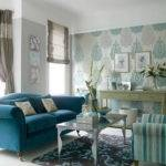Living Room Modern Classic Idea Blue Sofa