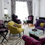 Living Room Purple Sofa Engrossing