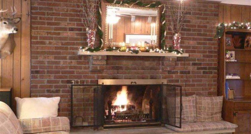 Living Room Small Ideas Brick Fireplace