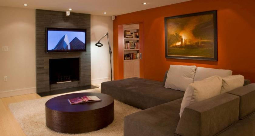 Living Rooms Painted Two Colours Brown
