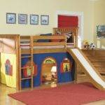 Loft Bunk Bed Slide Tent Kids Decofurnish