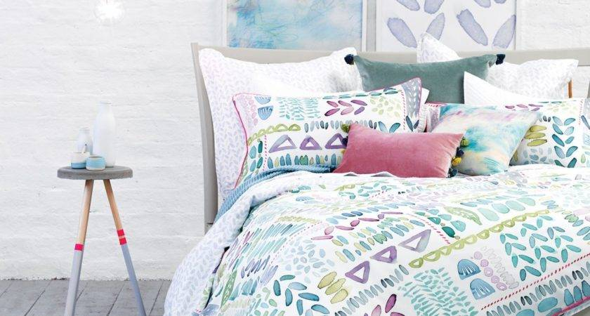 Lola Duvet Cover Watercolour Bedding Bluebellgray