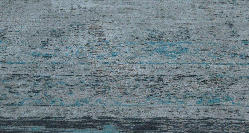 Louis Poortere Fading World Grey Turquoise Rug