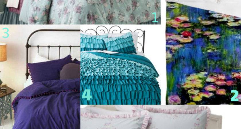 Love Blue Purple Bedding Rebecca Kelsey