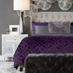 Lovely Purple Grey Bedroom Decor Home