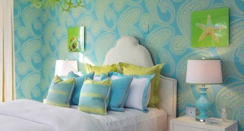 Lovely Teen Girls Bedroom Green Blue Cool