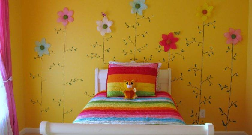 Loveyourroom Little Girls Yellow Flower Bedroom