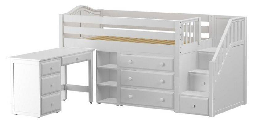 Low Loft Bed Staircase Desk Drawer Narrow