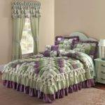 Low Price Brylane Home Alexis Bedspread Purple Green