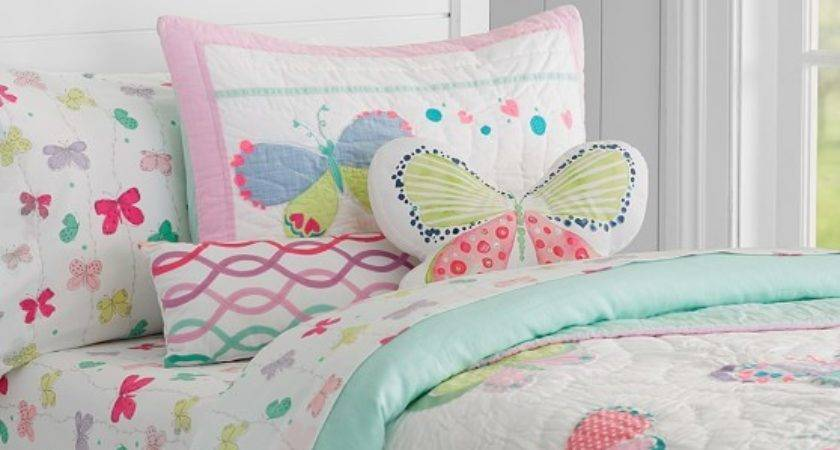 Lucy Butterfly Quilted Bedding Pottery Barn Kids