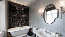Luxe Silver Black White Bathroom