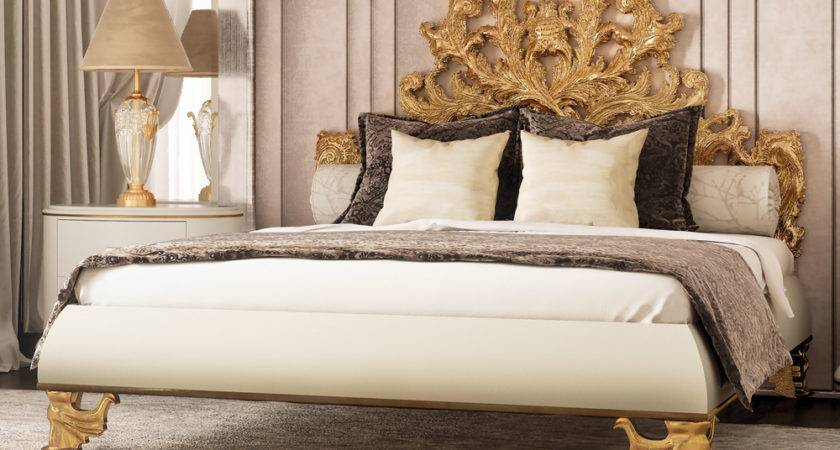 Luxurious Ornate Gold Leaf Bed