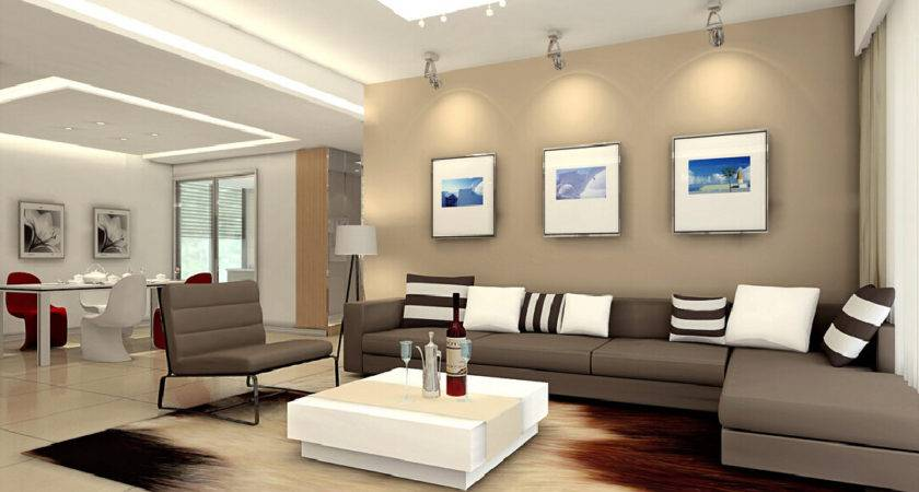 Luxury Minimalist Living Room Interior Design Grey