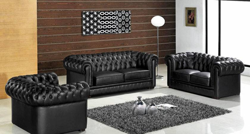 Luxury Modern Leather Living Room Furniture