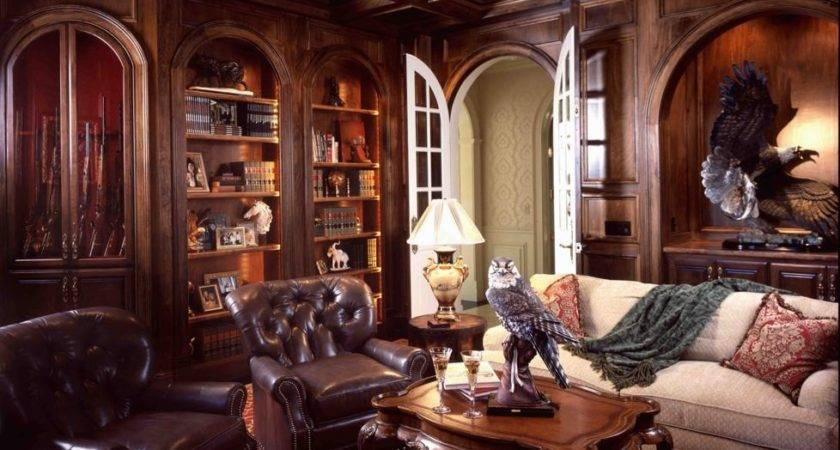 Luxury Traditional Western Informal Living Room Arch