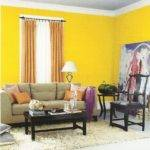 Magnificent Yellow Orange Living Room Concerning