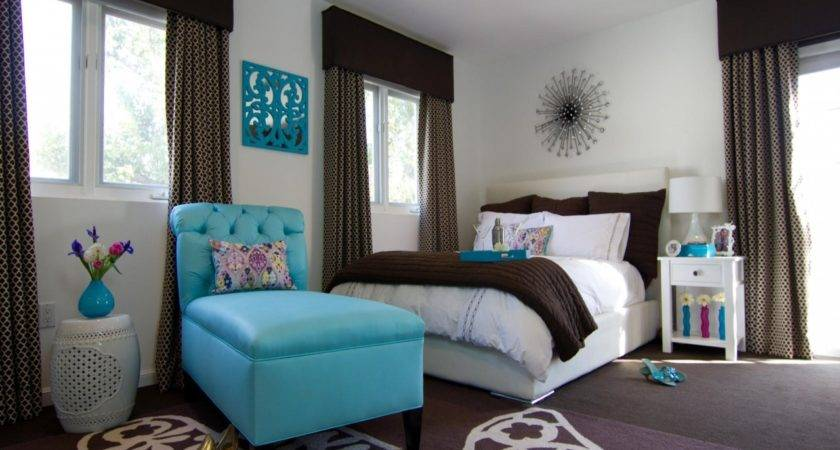 Make Bedroom Turquoise Brown Colors Coral